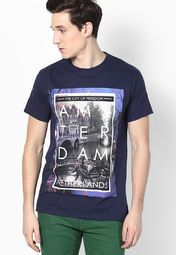 51b5bc09c04 Buy New Look Navy Blue Round Neck T-Shirt Online - 3153042 - Jabong