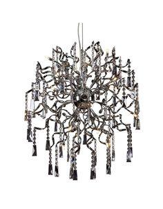 Kristallen hanglamp bol design chroom 60cm diameter