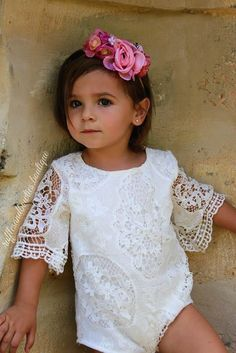 Lily Boho Vintage Lace Wing Sleeved Onesie