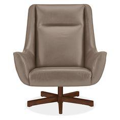 charles swivel chair ottoman with aluminum base swivel chair