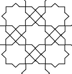 Eight point squares pattern