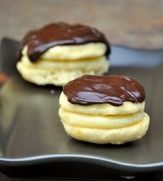 Boston Cream Whoopie Pies: Chocolate and pastry cream is always a winning combination!