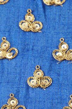 dupion art silk royal blue fabric