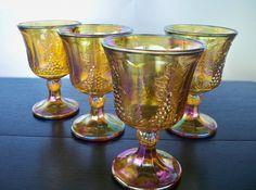 Vintage Wine Glasses Indiana Carnival Harvest by ellauniverse, $44.00