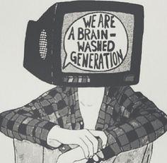 generation, grunge, and tv image
