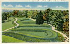 Mound Builders: Aerial Photo of the Famous Serpent Mound in Ohio
