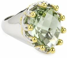 Ellen Himic Garl and Silver and Green Amethyst Pear Shape Ring, Size 5 Ellen Himic. $142.00