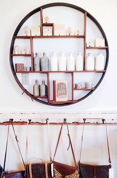 I'm planning on having a friend of mine recreate this incredible circular shelf for me that I spotted in my hometown!  Follow along with the journey on my instagram: @Moore Adm Seal