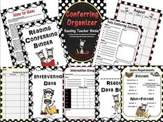 Good blog for 5th grade! Do you struggle with staying organized and consistent with conferencing during Reading Workshop? If so, this Conferring Organizer: Reading Teacher Binder is for you! This 50 page product will keep you organized, consistent and accountable for meeting daily with strategy groups and individual reading conferences.