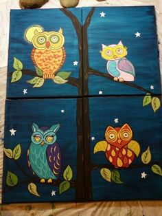 Come help us Paint the Town Sunday, May 5th, from 1-4:30! SICA is hosting an afternoon social painting event for the whole family. For more information and reservations call 812-522-2278. The subject picture is a whimsical family of owls sitting on tree branches with a full moon and starry background. Each participant will paint their own canvas, but when put together with the rest of their family the result will appear as one composition.