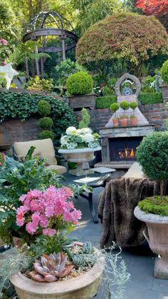 Small Backyard Design, Backyard Garden Design, Small Backyard Landscaping, Backyard Ideas, Backyard Pools, Landscaping Ideas, Garden Yard Ideas, Lawn And Garden, Garden Art