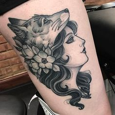 WEBSTA @ jeanleroux - Saw this healed today thanks Emma for coming back ... @thetallonco @blackgardentattoo #tattoo #tattoos #healed #healedtattoo #girl #girltattoo #fox #foxtattoo #foxcowl #instagood #instadaily #london #londontattoo #flowers #flowertattoo