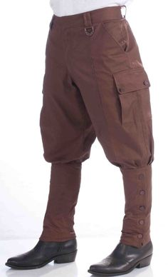 Steampunk Victorian Cosplay Costume Brown Riding Pants * FAST SHIP * Steam punk #FORUM #PantsShorts