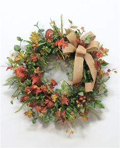 Fall Oaf Leaf Wreath, Autumn Wreath
