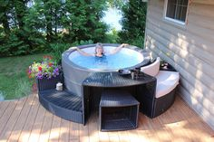 Portable Spas give a low-cost option for spas that can fit in almost any situation or location: Inflatable, Foam, Solid Wall construction.