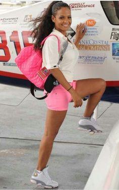 Christina milian with Jordans♡♡