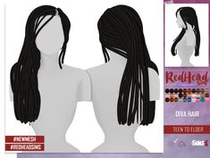 Coupure Electrique: Diva hair for Sims 4 Sims 4 Toddler Clothes, Sims 4 Mods Clothes, Sims 4 Clothing, Custom Clothing, Sims 4 Stories, Sims 4 Cas Mods, Around The Sims 4, Sims 4 Black Hair, The Sims 4 Cabelos