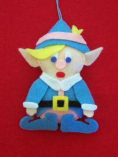 Hermey the elf felt ornament