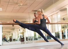 Athleta Plie long, lean tights and tank for barre classes, like PureBarre, CoreFusion, and Physique57.