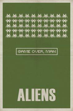 Minimal movie posters - aliens