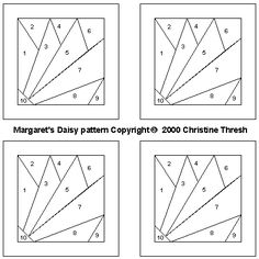 Paper Piecing Patterns Free Printables | Paper Pieced Daisy (Margaret's Daisy)