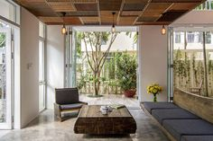 EPV House Is A Semi Detached Home With Interior Wood Clad Accents Designed  By AHL Architects Associates, Located In The Ecopark Green Urban Area,  Vietnam.