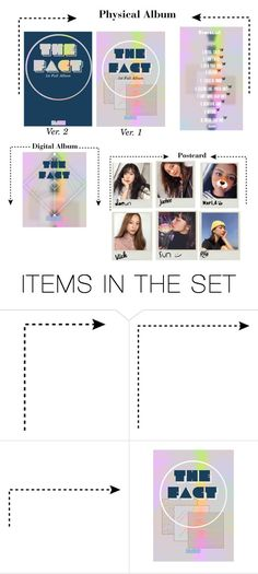 """""""""""The Fact"""" Album + Postcard"""" by starz-official ❤ liked on Polyvore featuring art"""