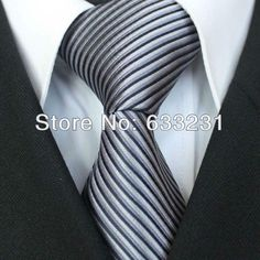 Wholesale Women Belts - Buy YIBEI Ties Silver With Black/Gray Stripe Necktie For Wedding Formal Men Neck Tie for Men Dress Shirts Wedding, $9.25 | DHgate