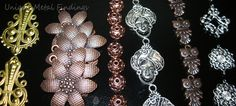 Wide assortment of brass stampings, copper findings and silver stampings