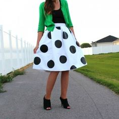 Use heat transfer vinyl to make a polka dot skirt with this tutorial.
