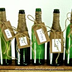 Upcycled Wine and Champagne Bottles
