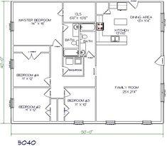 Best Metal Barndominium Floor Plans for Your Inspiration Metal Homes Floor Plans, Metal Building House Plans, Unique Floor Plans, House Floor Plans, Morton Building, Pole Barn House Plans, Pole Barn Homes, Shop House Plans, Barn Garage