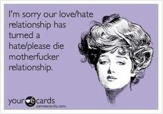 I'm sorry our relationship lol