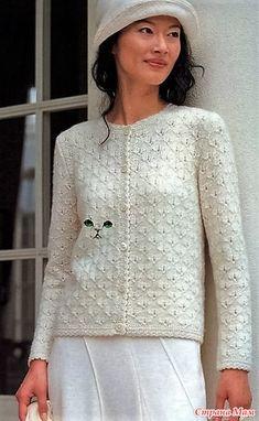 spițe jacheta inteligente. - Moda Materiale tricotate + NEMODELNYH PENTRU LADIES - Țara Mamă