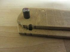 How to Make a Wooden Folding Knife: 9 Steps (with Pictures) Wood Knife, Knife Handles, Folding Knives, Pictures, Photos, Butterfly Knife, Pocket Knives, Grimm