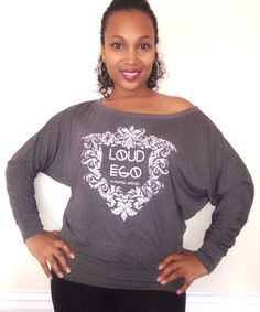 Ladies wide neck/off the shoulder top. $35 only at www.loudegoapparel.com
