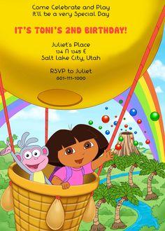 Dora the Explorer Free Birthday Invite