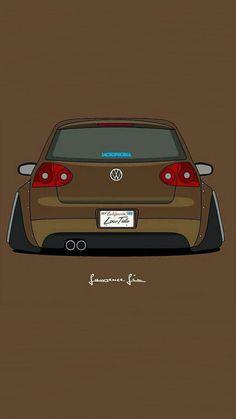 Golf trick, tips and training Volkswagen Golf Mk2, Vw Golf Mk4, Car Iphone Wallpaper, Car Wallpapers, Tuner Cars, Jdm Cars, Vw R32 Mk4, Jetta A4, Vw Sharan