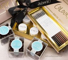 @colourpopcosmetics brow pencils and colors! These are amazing! Already sold out but make sure to keep an eye on @colourpopcosmetics page to see when they restock!  I will update as well  #pinkperception #colourpop #colourpopcosmetics #sugarfina #chocolate by pinkperception