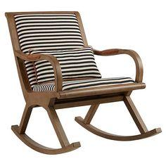 Bakersfield Rocking Chair - Land of Nod White Rocking Chairs, Upholstered Rocking Chairs, Rocking Chair Nursery, Vintage Rocking Chair, Custom Furniture, Kids Furniture, Furniture Design, Swivel Glider Chair, Striped Chair