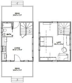 16x20 House -- #16X20H4A -- 574 sq ft - Excellent Floor Plans                                                                                                                                                      More