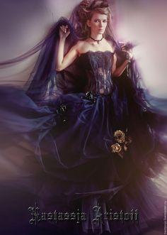Buy Black Wedding Dress. Ball Gown. - black wedding dress, black dress