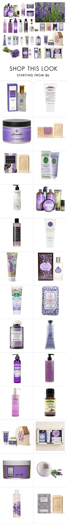 """Lavender Beauty Products"" by dezaval ❤ liked on Polyvore featuring beauty, Yardley London, Kiehl's, Soap & Paper Factory, Cowshed, Philip B, Niven Morgan, Simple Pleasures, Lavanila and Kneipp"