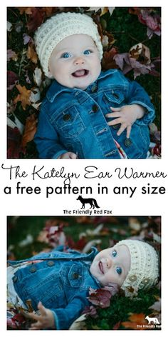 Free Ear Warmer Pattern. A modern look with texture. Tutorial on how to make it in any size!
