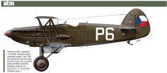 Přípravy na válku se projevily i na vzhledu československých vojenských letadel. Vlétě 1938 byly zamalovány plukovní znaky na bocích trupů aby se nepříteli ztížila identifikace jednotek. Příkladem může být tato Avia B.534 z21. stíhací letky Leteckého pluku 1.