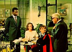 Sidney Poitier, Katharine Hepburn, Katharine Houghton and Spencer Tracy (Guess Who's Coming to Dinner)