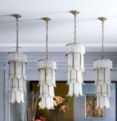 these dining room pendants! My Dream Home, Light Fixtures, Home Accessories, Dining Room, Chandelier, Ceiling Lights, Lighting, Specs, Home Decor