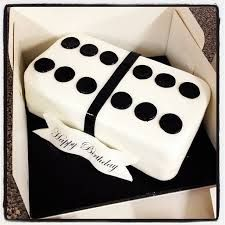 Domino cake. (G)Grandma's birthday cake? maybe do her age in dots, so 8 on one side and 7 on the other side so it make 87 years.