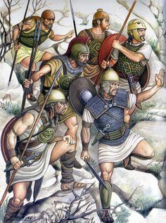 """""""Celtíberos cerca de Numancia, 134 aC"""", Angel Garcia Pinto"""