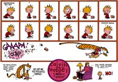 Calvin and Hobbes strip turned into a 30-second animated cartoon...